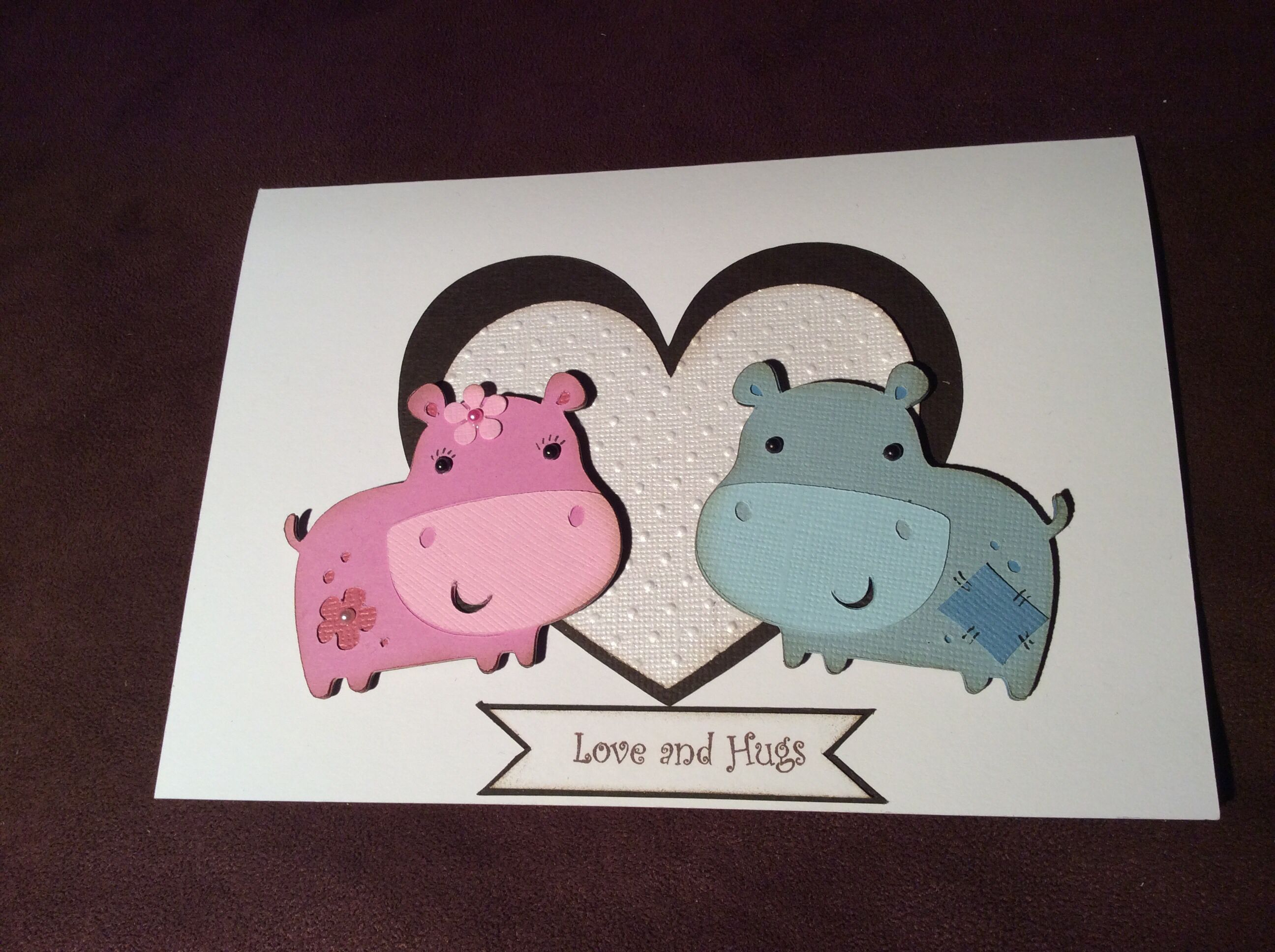 Anniversary card made with Cricut Create a Critter