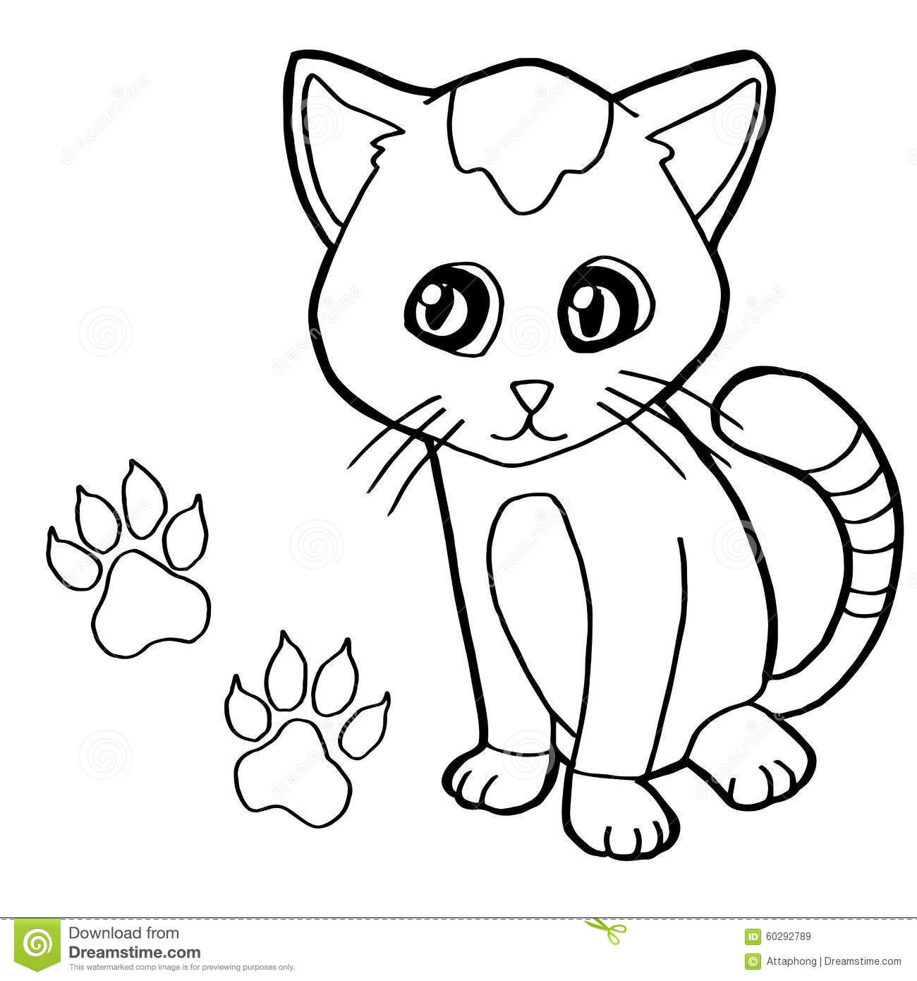 Paw Print Cat Coloring Page Vector Image Pages 60292789 Jpg 1300 1390 Cute Coloring Pages Butterfly Coloring Page Animal Coloring Pages