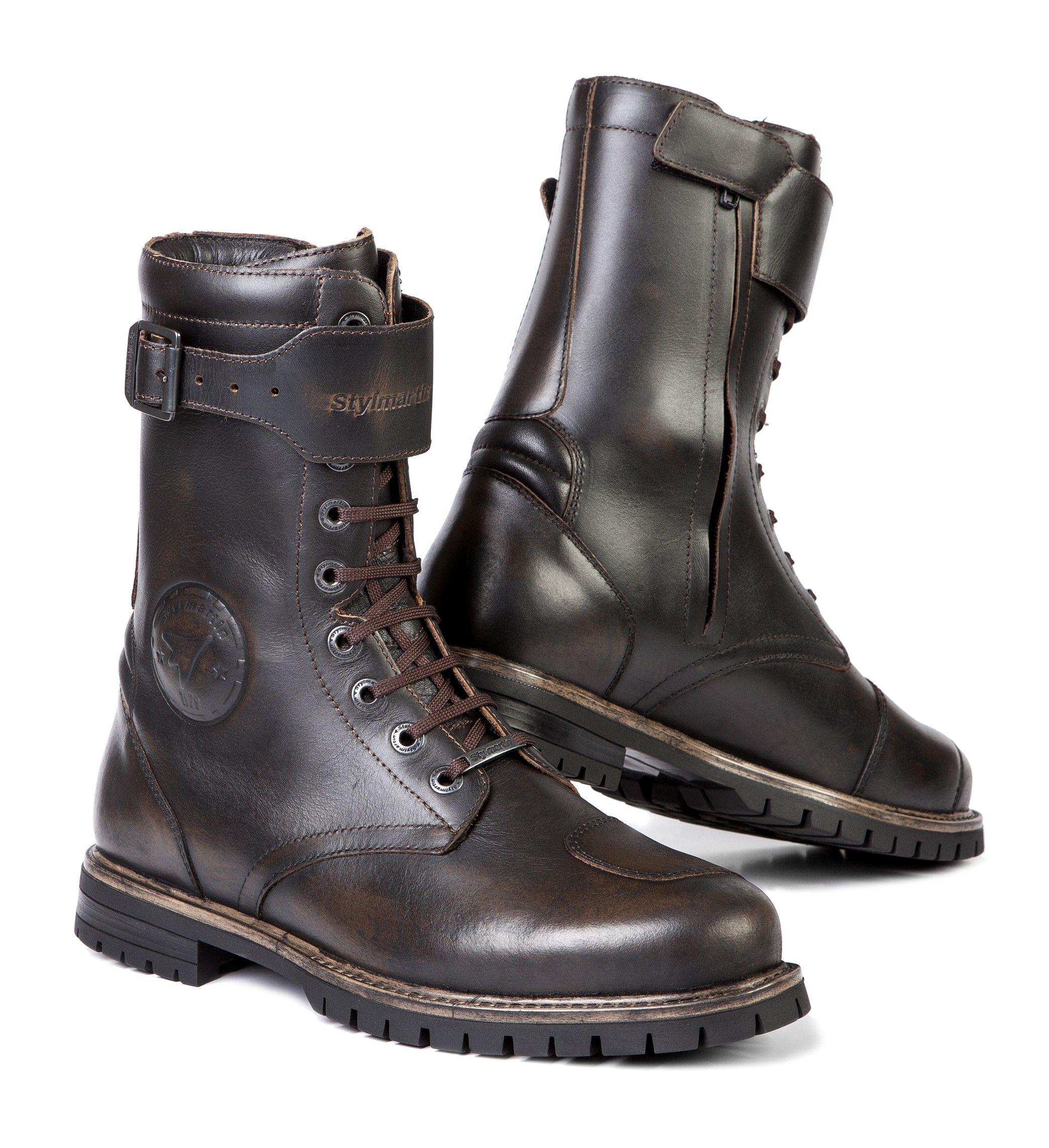 Brown motorcycle boots, Waterproof