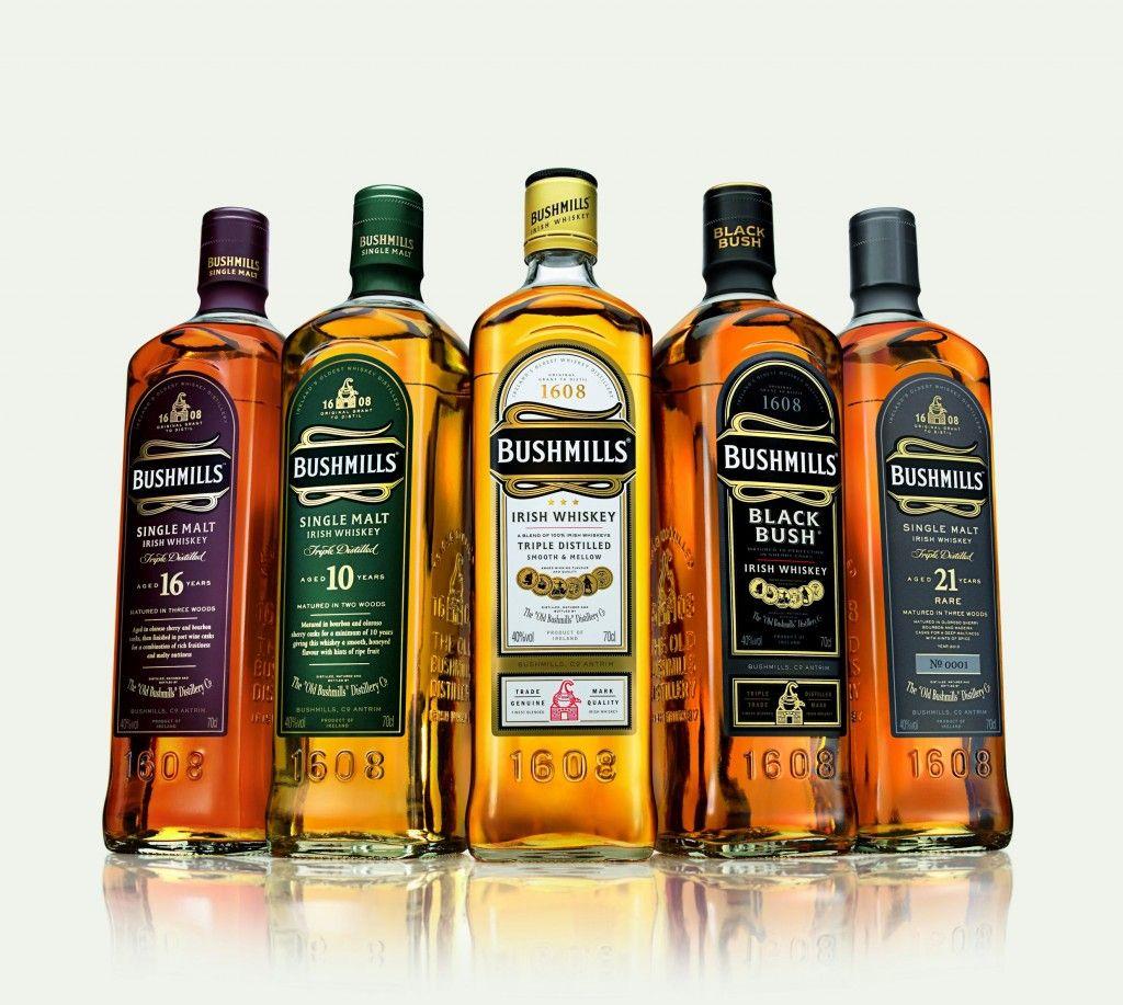 The Bushmills whiskey Range