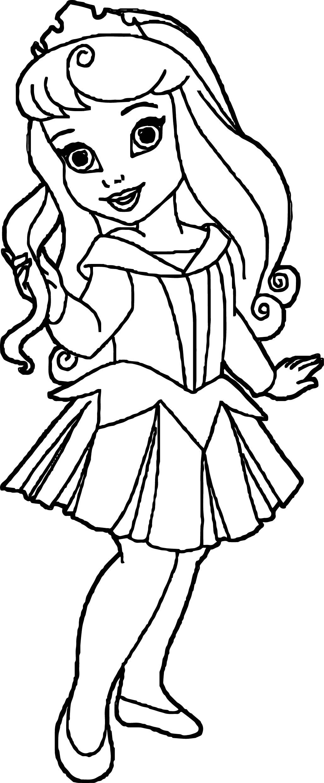 cool Small Kid Princess Coloring Page | Princess coloring pages ...