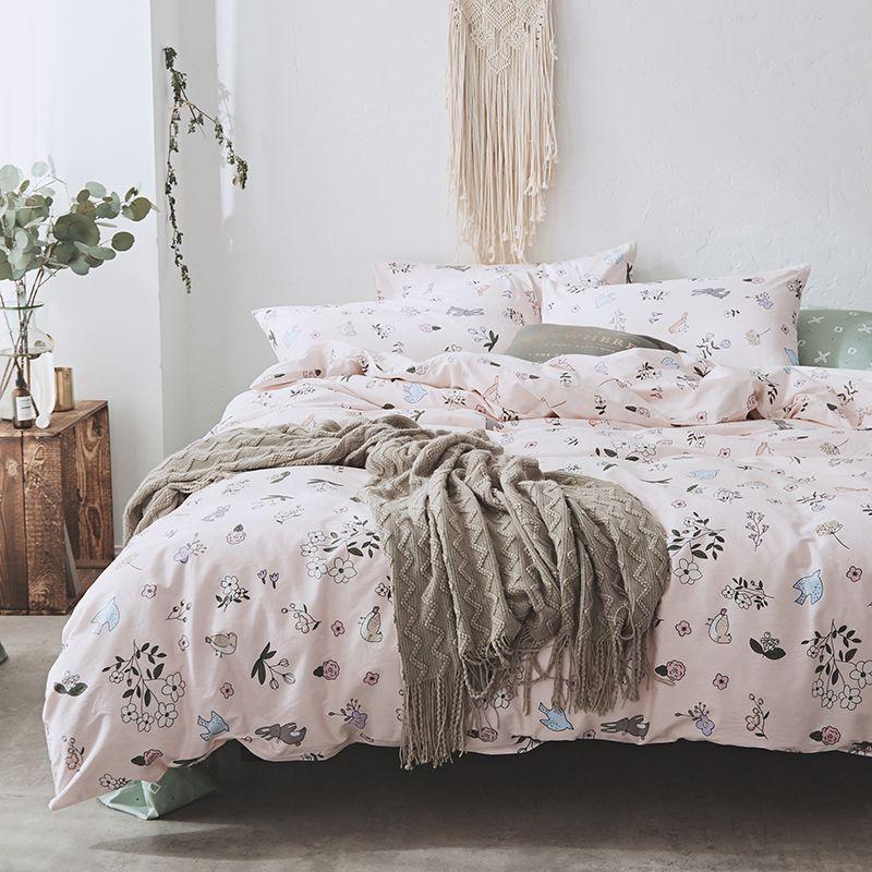 Pure Cotton Bedding Sets Bedclothes Queen Size Duvet Cover Kids