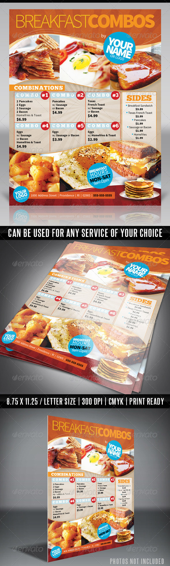 Menu Flyer Template  Breakfast  Front Page Menu Research