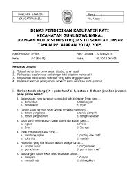 Soal Uts Pai Semester 2 Kelas 3 Kurikulum 2013
