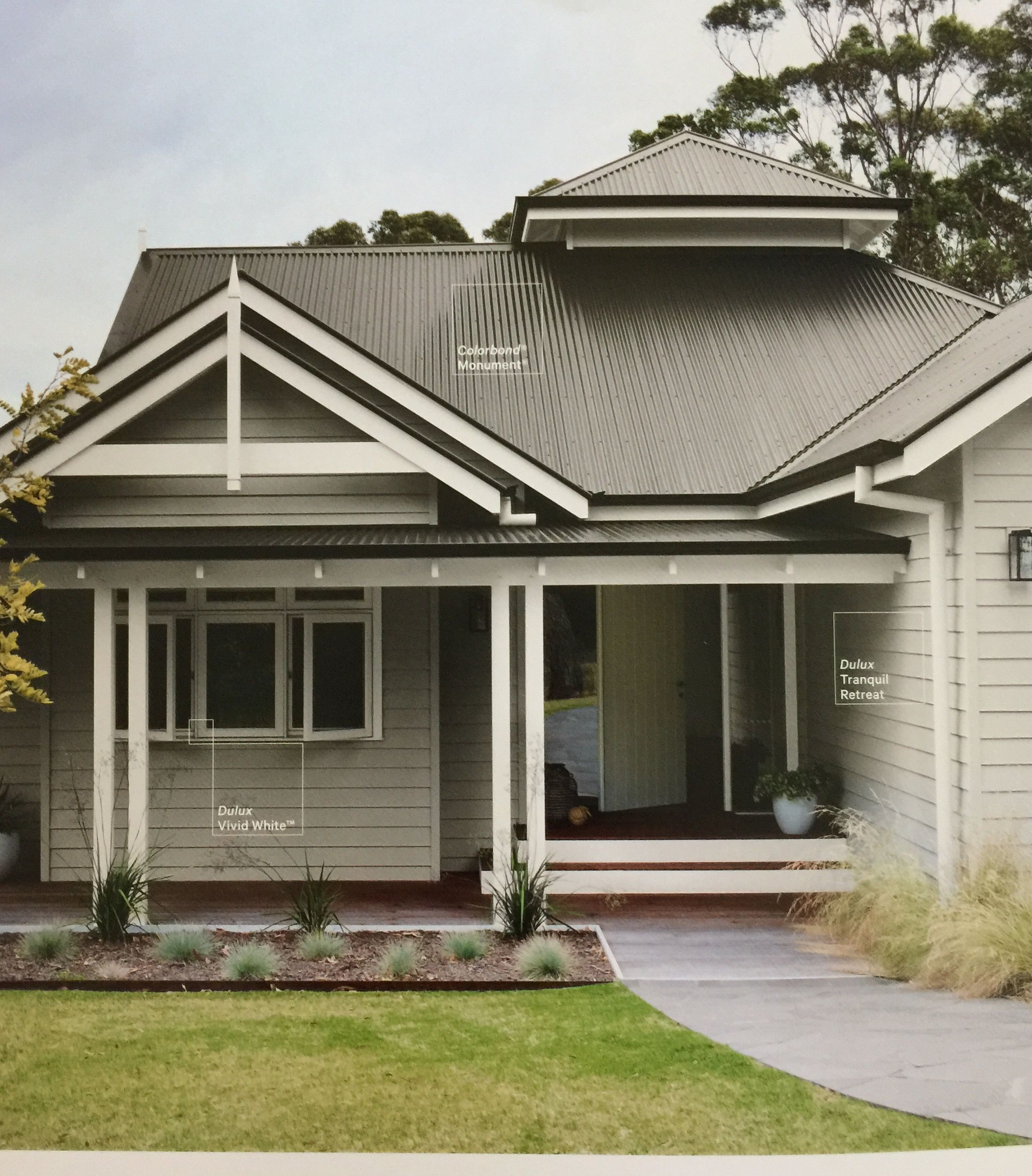 Traditional australia federation exterior inspirations paint - Colorbond Monument Exterior Pinterest Roof Colors House And Exterior Colors