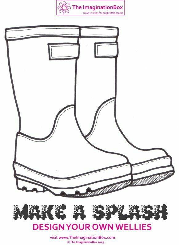 Wellies | SHOE DESIGN | Spring art, Craft projects for kids