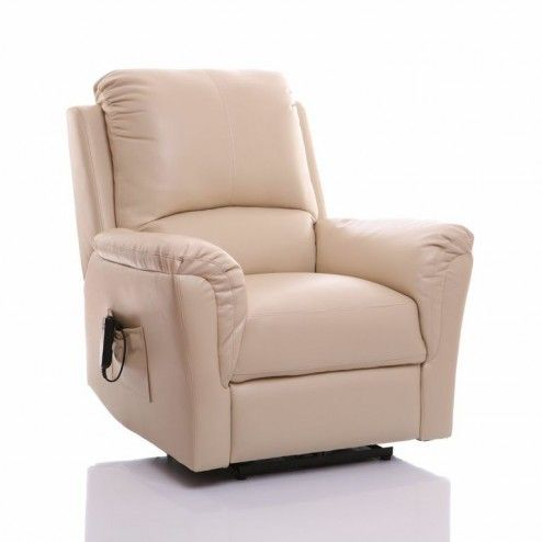 Bristol Riser Recliner Chair in Cream Swivel recliner