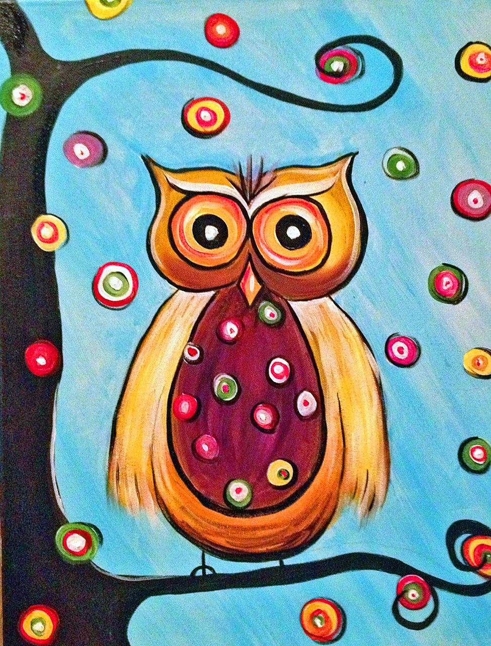 Images For > Cute Colorful Owl Drawing | Liya and Augustus ...