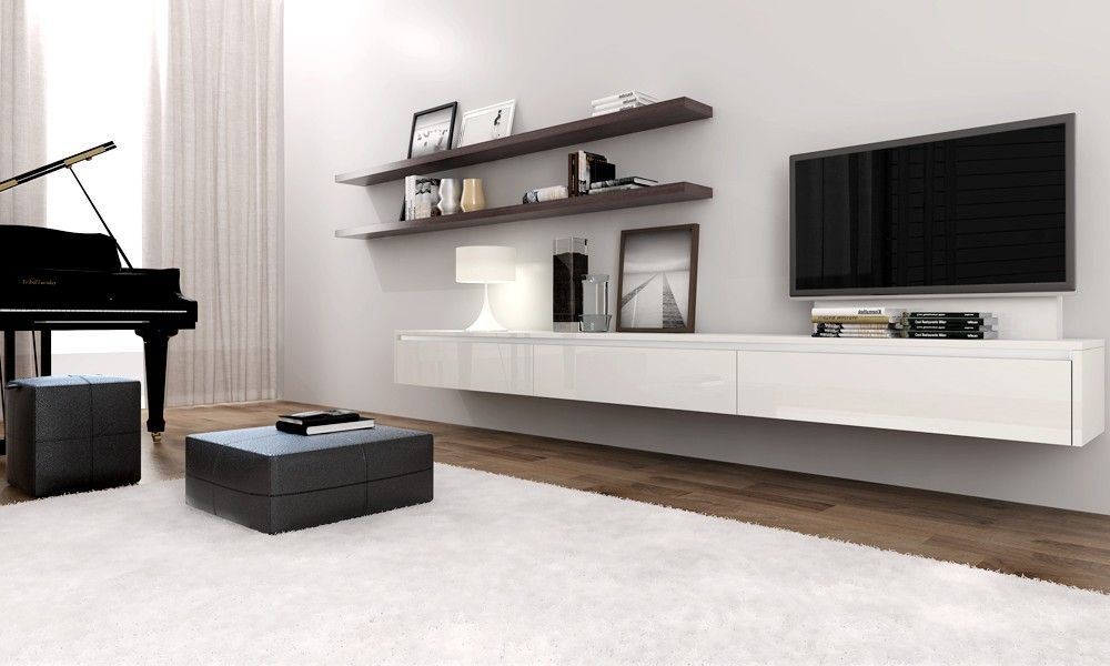 Floating Wall Cabinet Ikea Gl Sliding Door Mounted Tv Wooden Laminated Floor Built In Fl Pattern Cushion Pillows White Cabinets
