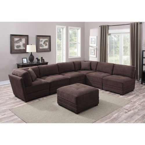 Best Taylor 7 Piece Fabric Modular Sectional With Images 400 x 300