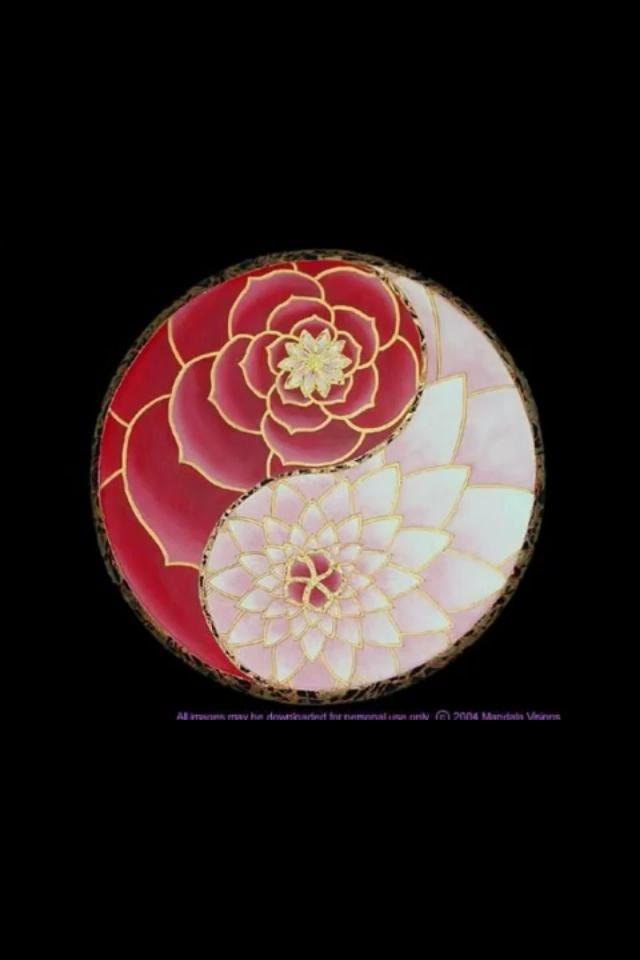 Lotus Yin Yang Mandala Om Aum Amen Yin Yang Tattoos Mandala