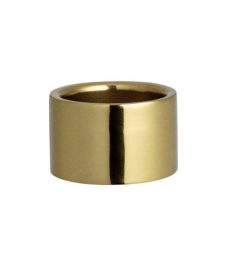 Sieh's dir an! Zylinderförmiger Kerzenhalter aus Metall für Teelichte.  Höhe 3 cm, Durchmesser ca. 5 cm. – Unter hm.com gibt's noch viel mehr.