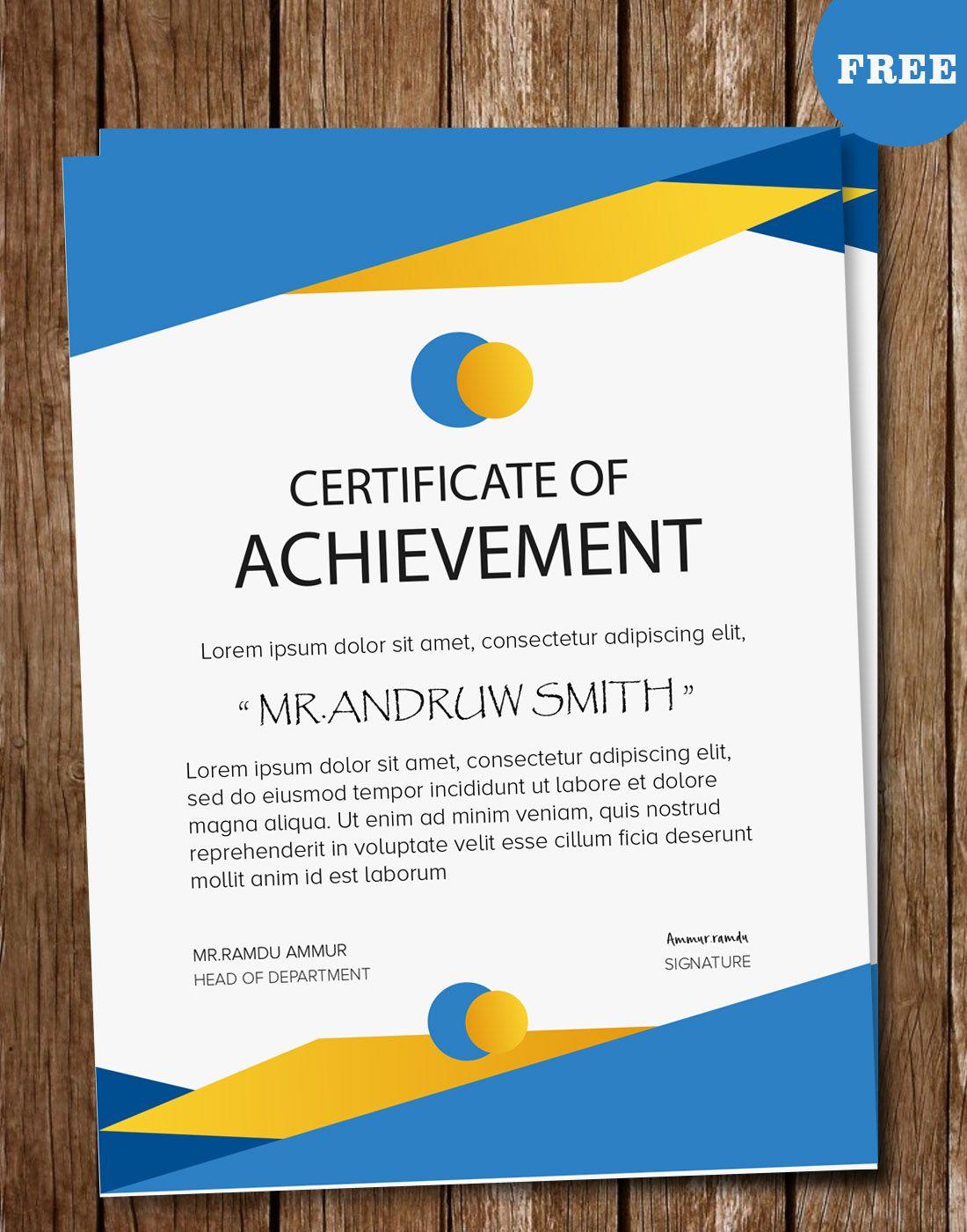 Certificate Psd Templates Certificate Vector Templates Pinterest