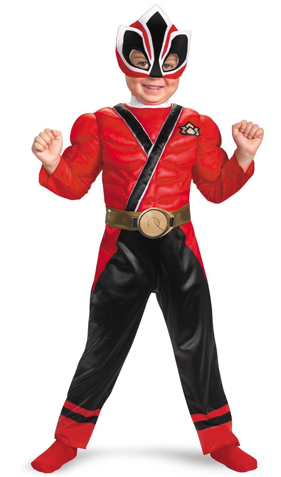 Power Rangers Red Samurai Ranger Muscle Chest Child Costume 34 99