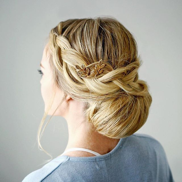 Braid Embellished Smooth Bun This tutorial is a step-by-step pictorial so comment below with a if you'd love to see it as a video tutorial! #missysueblog