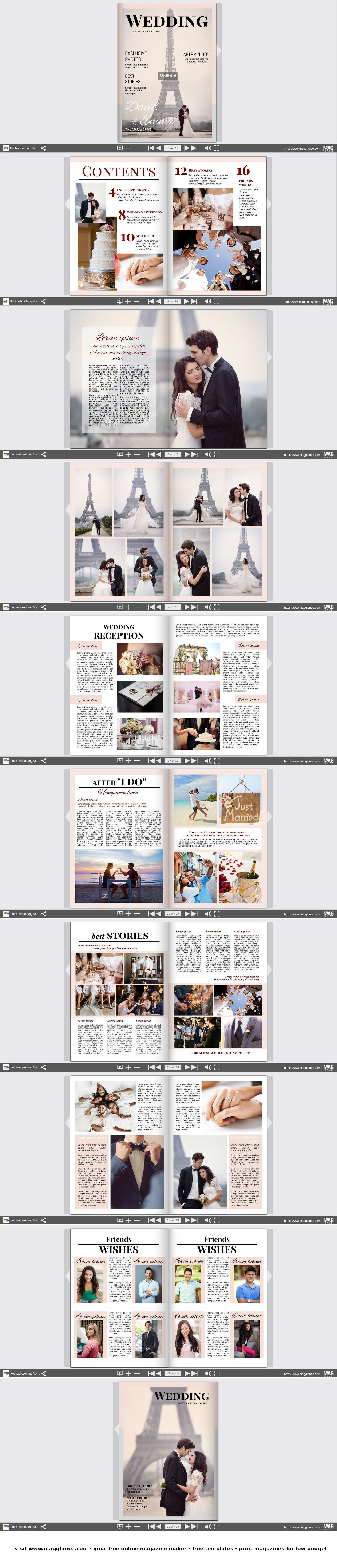 hochzeitszeitung kostenlos online erstellen und g nstig drucken unter zeitung. Black Bedroom Furniture Sets. Home Design Ideas