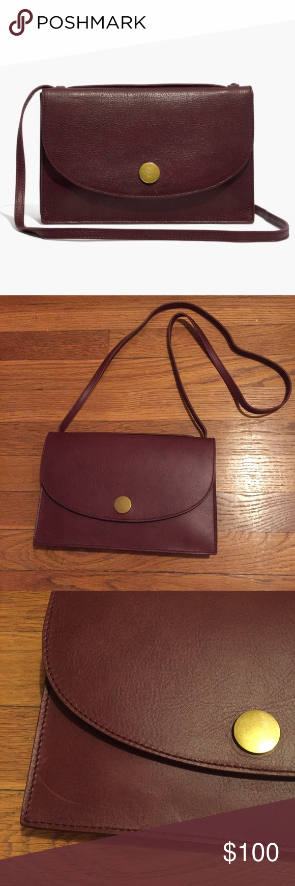 363762731edf Madewell Slim Convertible Bag in Dark Cabernet Brand new with tags slim  convertible bag from Madewell! In great condition and perfect for fall.