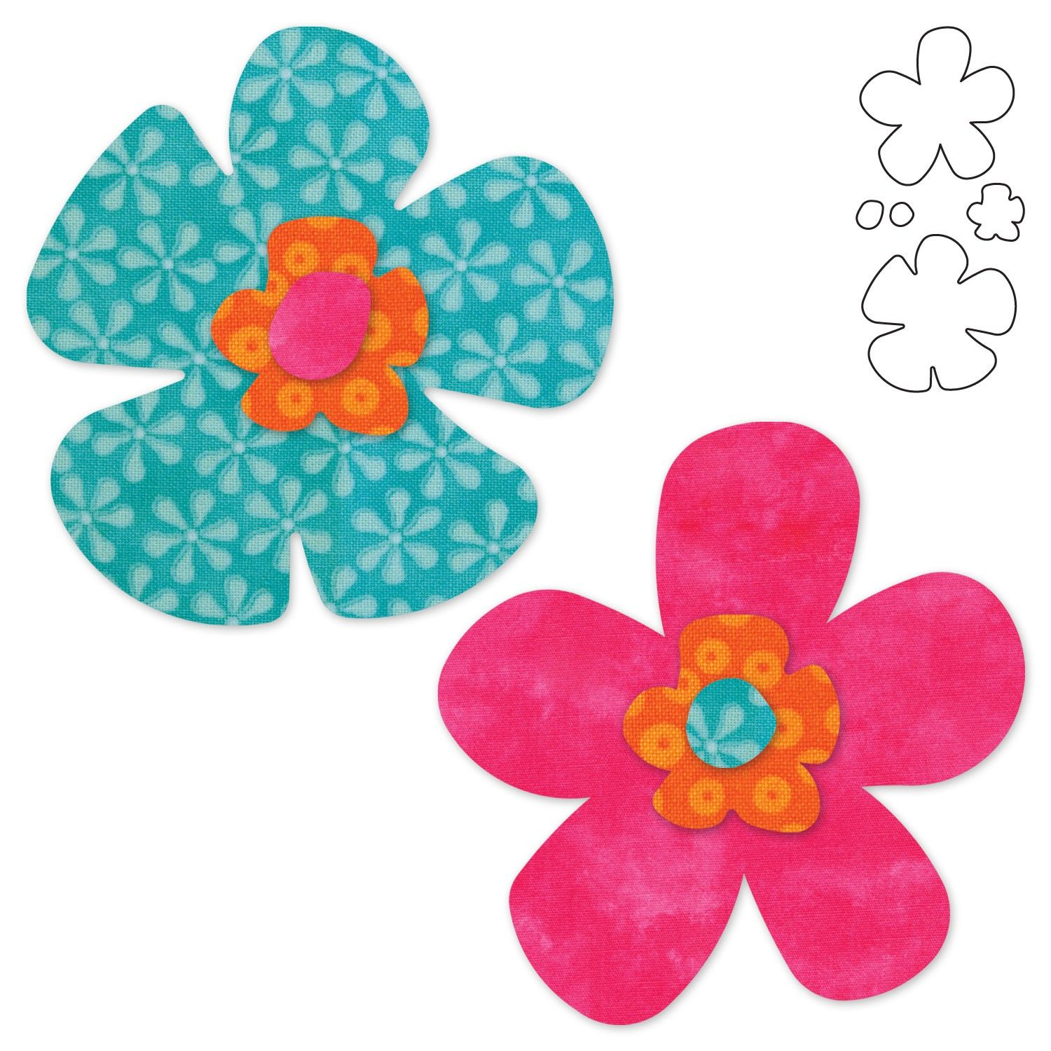 FUNKY FLOWERS STENCIL FLOWER SHAPES CRAFT ART TEMPLATE PATTERN PAINT NEW 8 x10