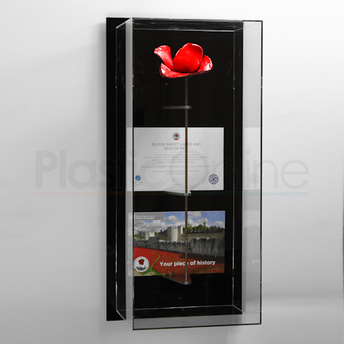 Tower Of London Poppy Display Case Model Q Wall Mounted