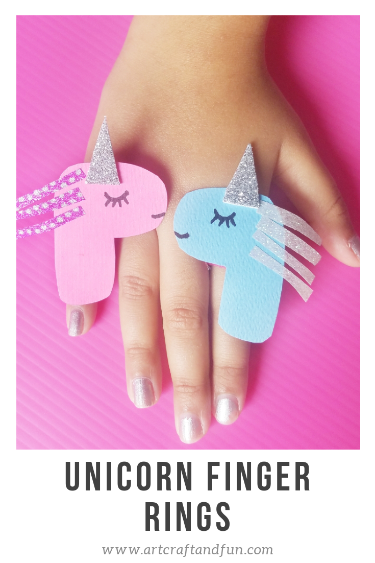 Learn How To Make Unicorn Craft Finger Rings For Kids ...