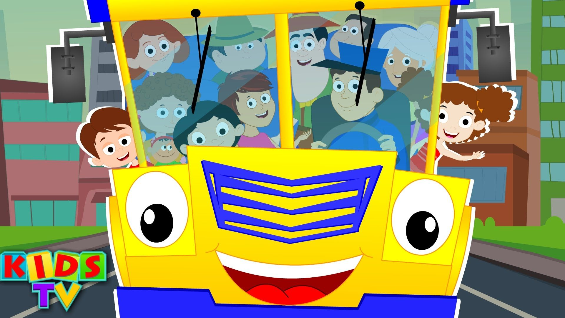 Wheels On The Bus Nurseryrhyme For Children And Kidssong With