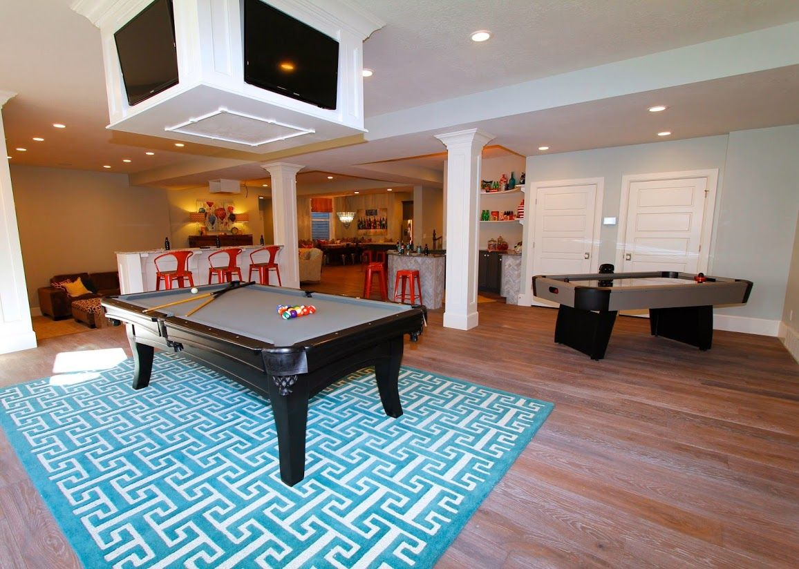 The Basement Of This Home Has Everything Candy Bar Open Theater Room Pool Table Air Hockey