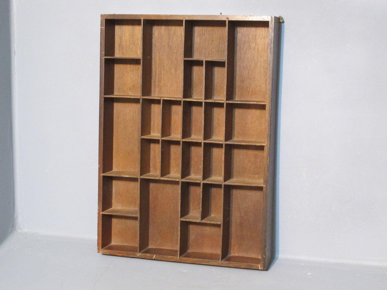 Wonderful Vintage Decorative Wooden Shadow Box Shelf / By MilkasTreasures. , Via Etsy.