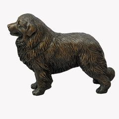 Standing Great Pyrenees - small bronze sculpture
