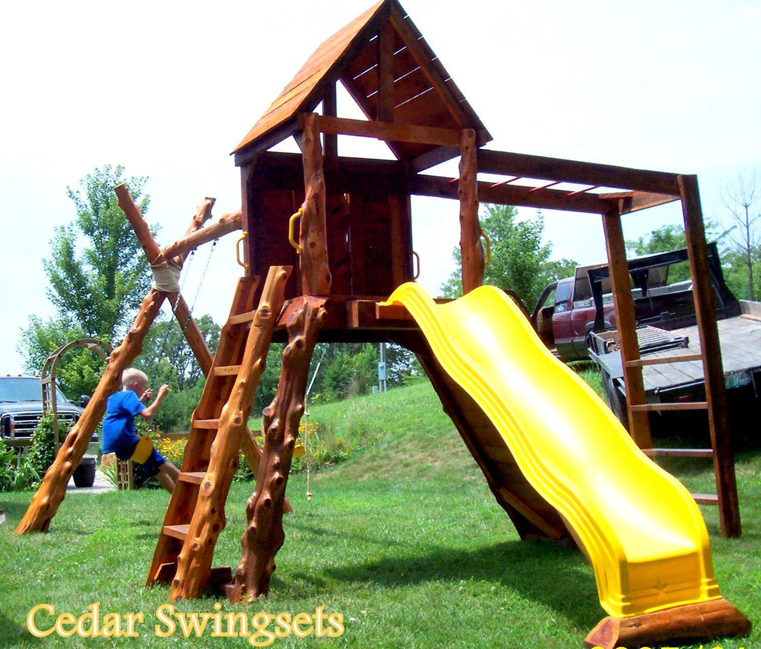 Cedar Log Swing Set Favorite Rustic Furniture