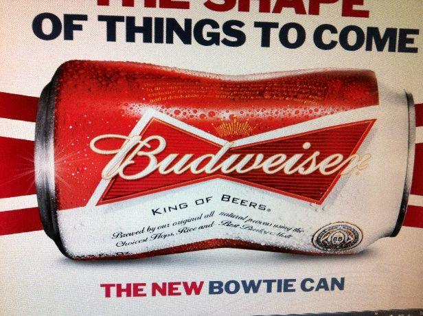 Budweiser lança no mercado americano lata com desenho inovador