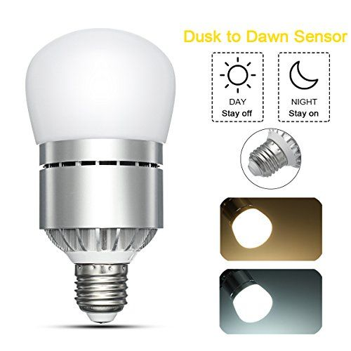 Led dusk to dawn light bulb elfeland smart led photo sensor lights led dusk to dawn light bulb elfeland smart led photo sensor lights bulb auto on aloadofball