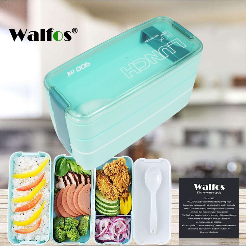 New Arrive 900ml Cute Lunch Dinnerware Box Portable 3 Layer