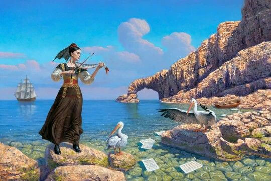 Michael Cheval-Songs of the Island of Sirens I- there is another version of this...
