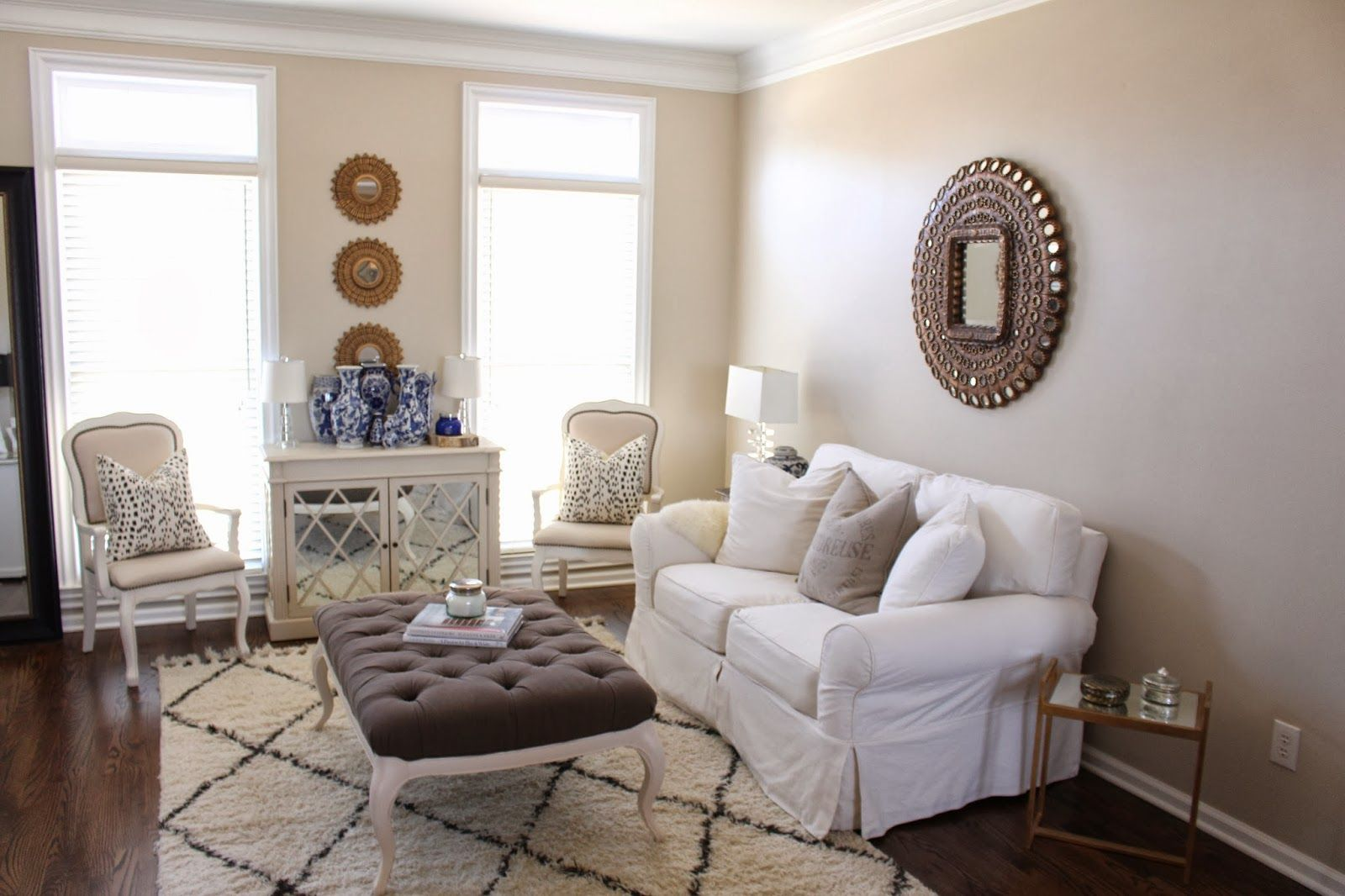 A Fresh Coat Of Paint In My Office Sitting Room Benjamin Moore Clay Beige Living Pinterest