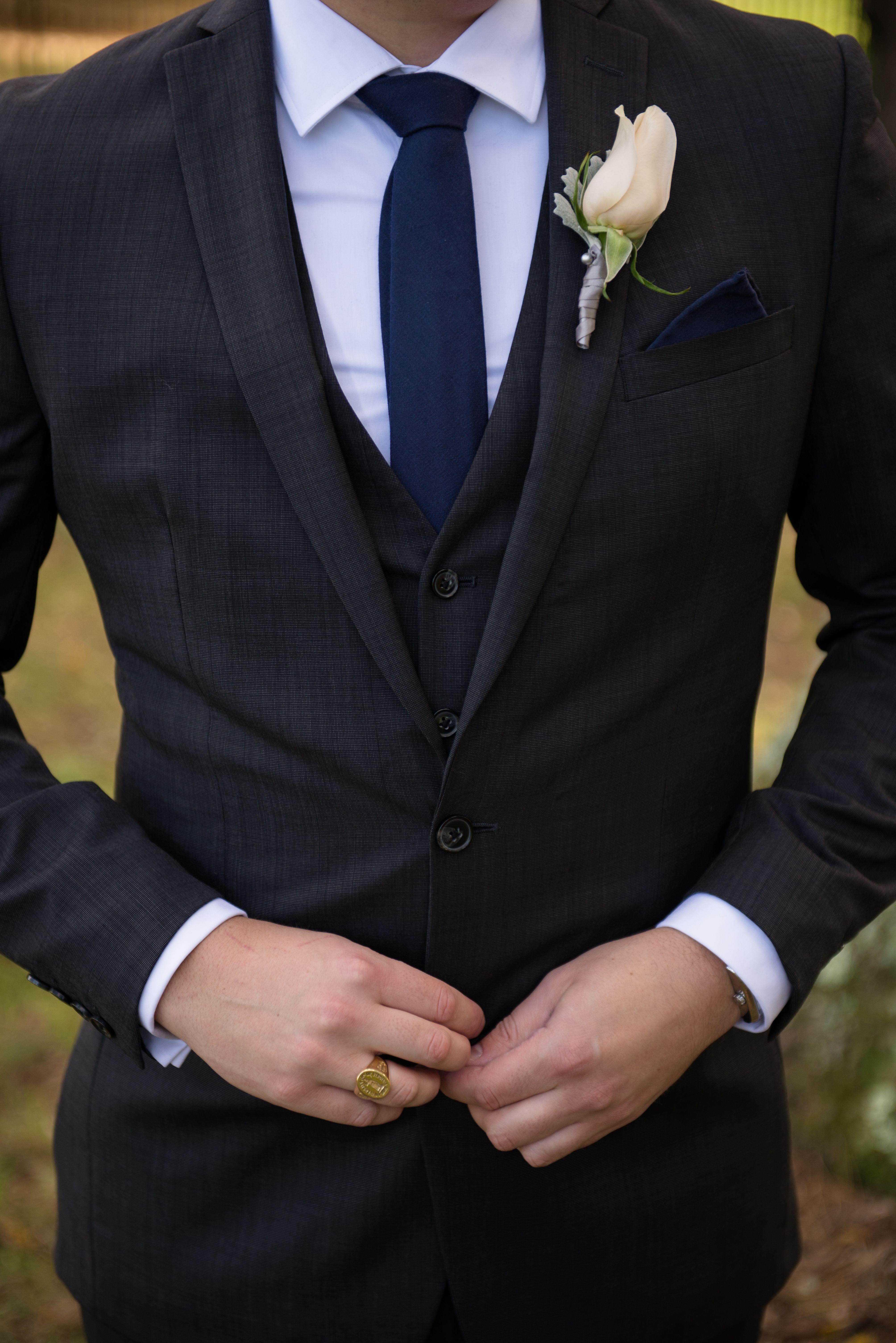 Charcoal grey groom suit in 2020 grey suit wedding