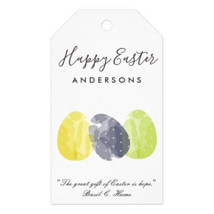 Modern colorful watercolor easter eggs personalize gift tags modern colorful watercolor easter eggs personalize gift tags elegant wedding gifts diy accessories ideas negle Image collections