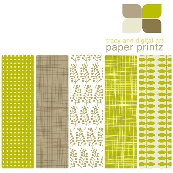 CLEARANCE SALE Printable Papers - Forest, Set 6 - Commercial Use