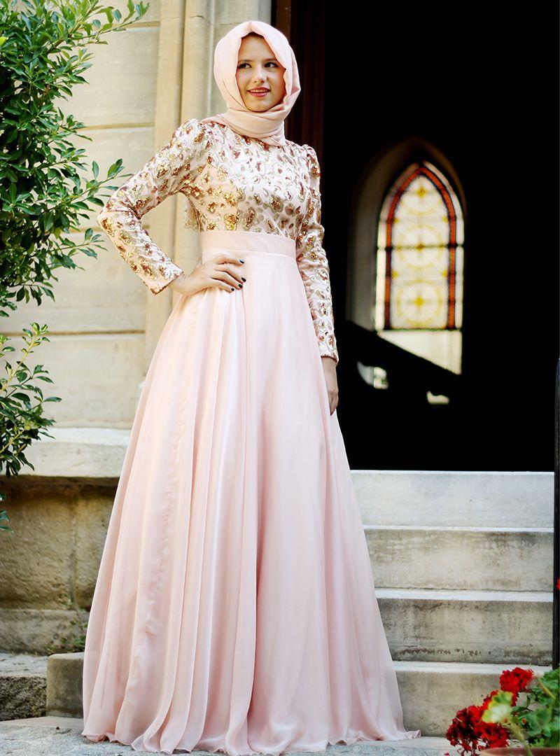 Zuhre Abiye Pudra Agonya Moda The Dress Aksamustu Giysileri Moda