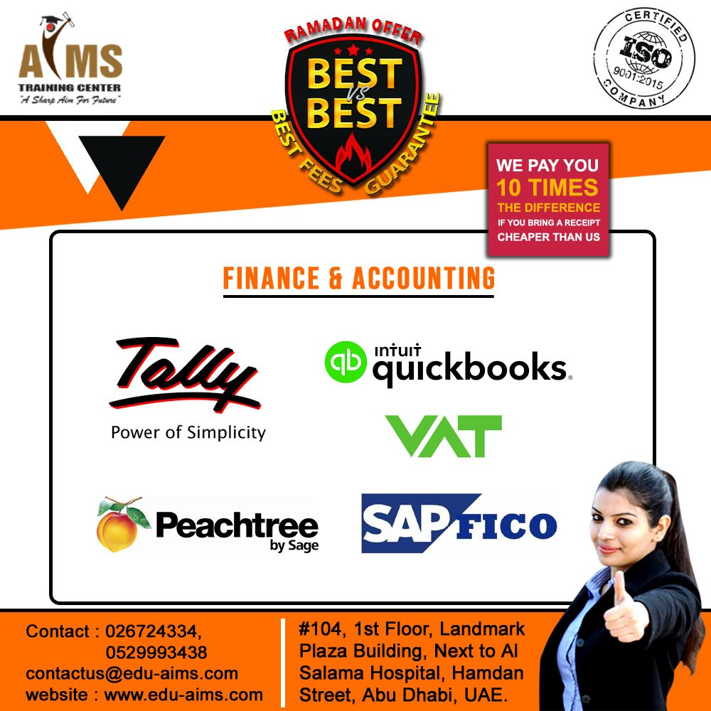 AIMS TRAINING CENTER Finance And Accounting #tally