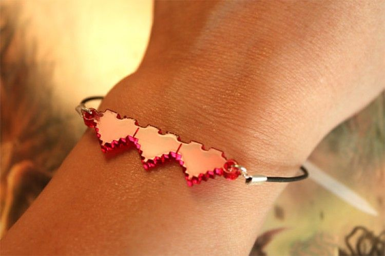 Zelda #8bits 3 starting hearts bracelet