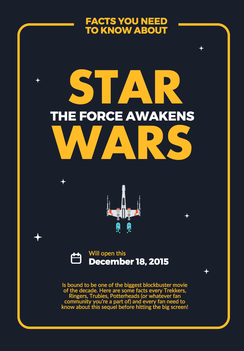 Create Your Own Starwars Theforceawaken Poster With Our New Pro