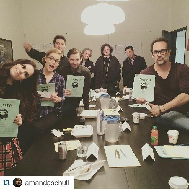 #Repost @amandaschull with @repostapp  Holy monkey macaroni! This was our final table read for season 2 of #12monkeys ! It is gonna be a doozy!