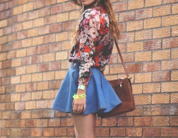 Skater skirts + floral prints.