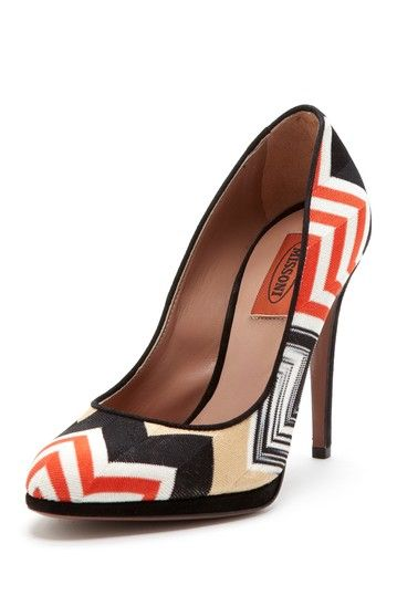 Missoni Zig Zag Print Pump Think I Want A Patterned Heel For The Impressive Patterned Heels