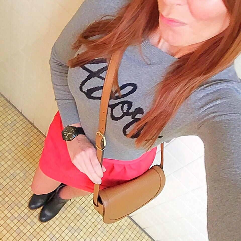 @oldnavy top and a @jcrewfactory skirt!  Both are from last season but still one of my faves