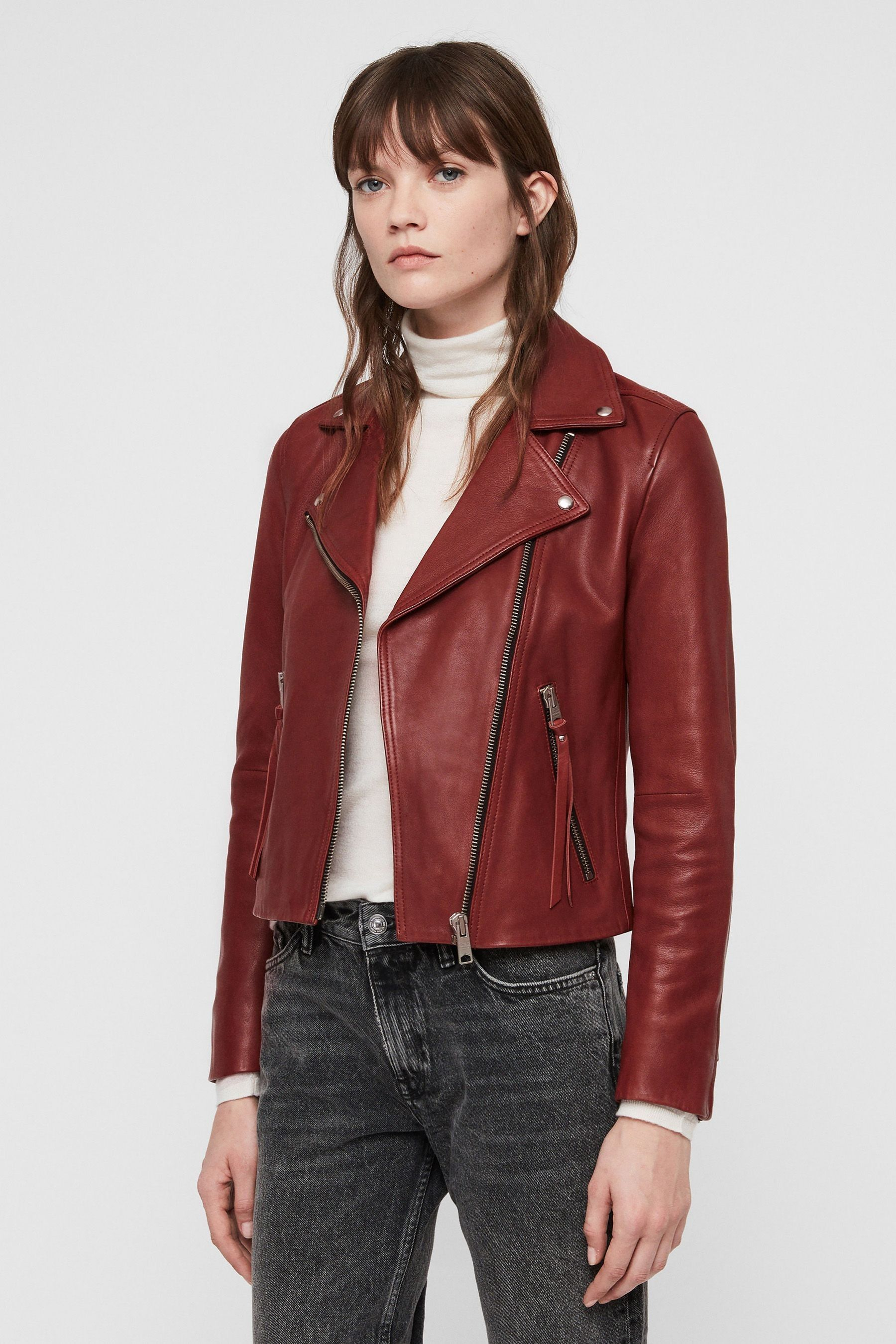 deb34ca29 Womens AllSaints Dalby Leather Biker Jacket - Black in 2019 ...