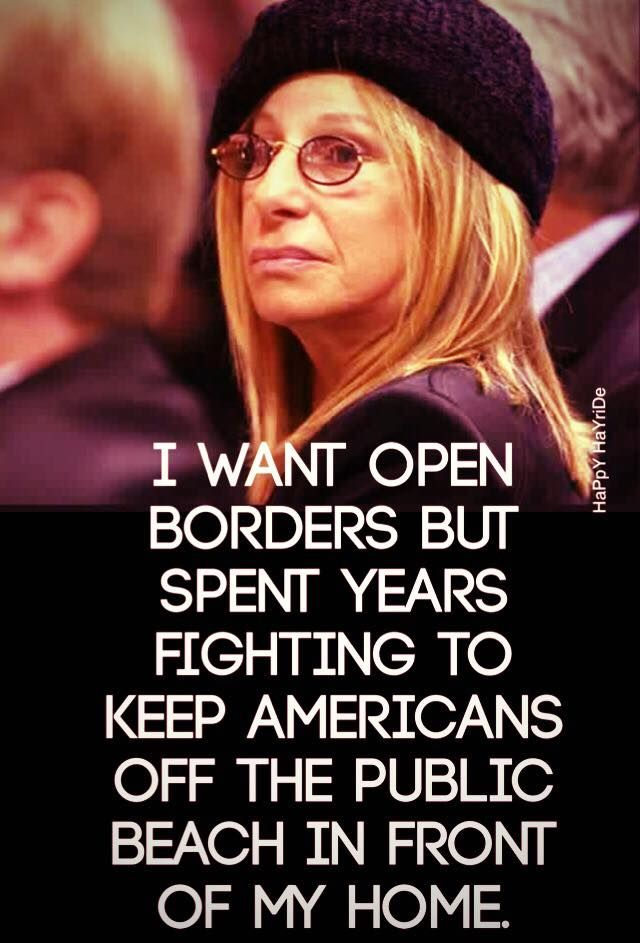 She would never think of having a refugee family live inside her home, yet she'll tell us that we're wrong for wanting a wall.