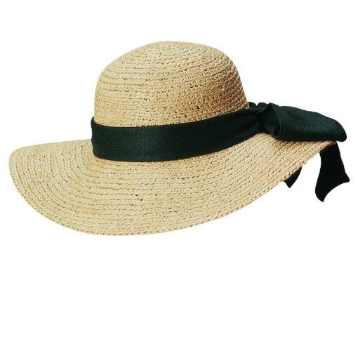 796ef9e636f74f Organic Raffia Sun Hat with Large Bow | I never know what to get you ...