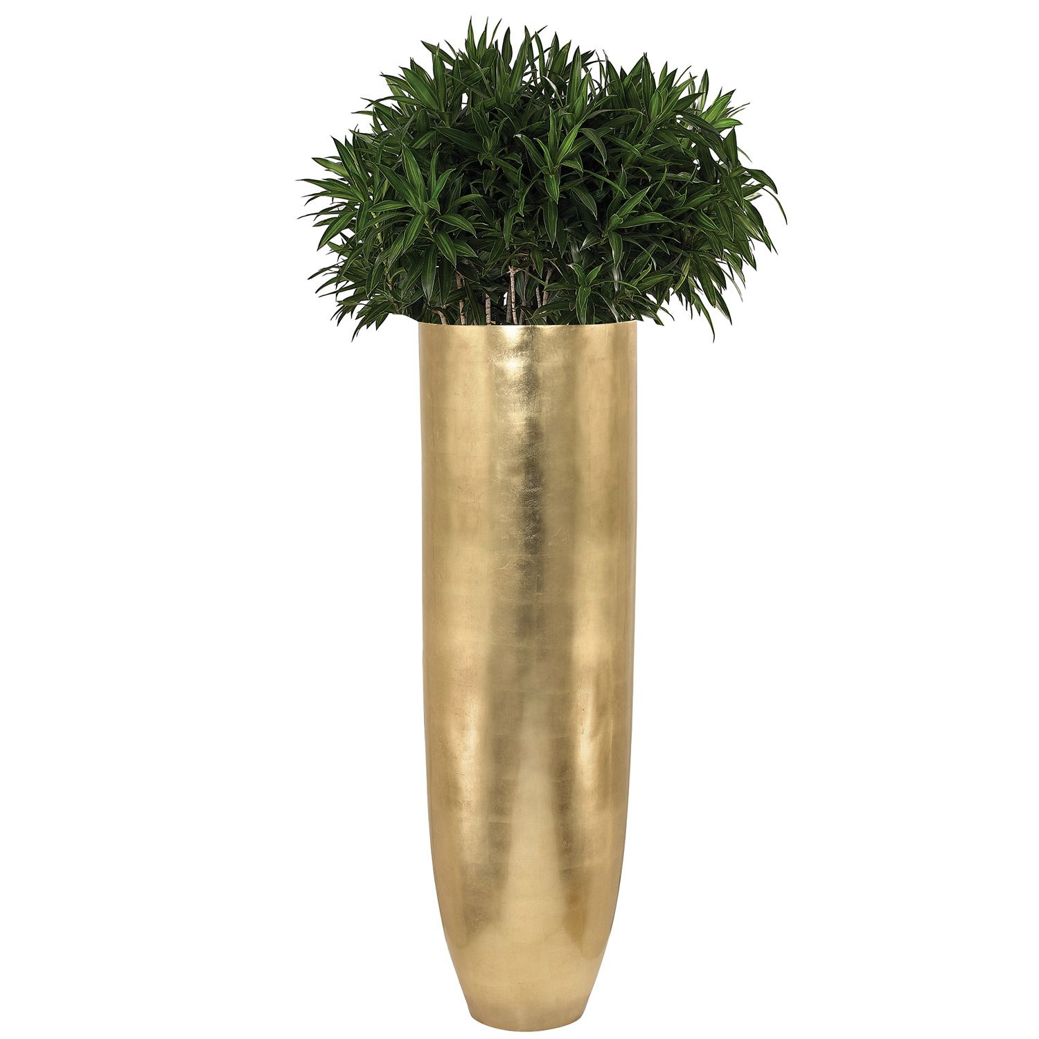 Oversized Oval Gold Leaf Planter Zinc Door Planters