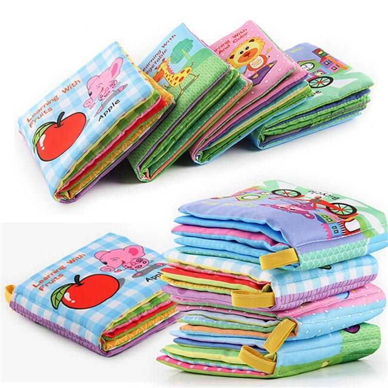 Baby Early Education Soft Cloth Books Learning Education Unfolding Activity Toys